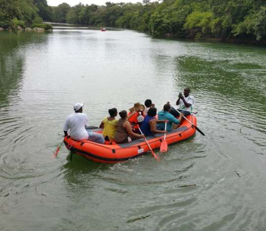 Jungle Trolley, Rafting & Mayan Village